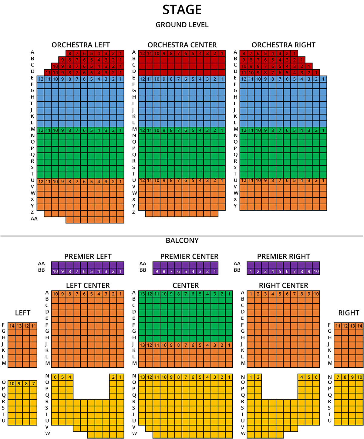 Temple Seating Chart
